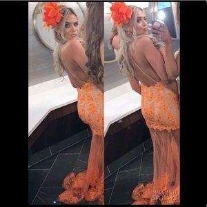Beautiful orange terani couture dress
